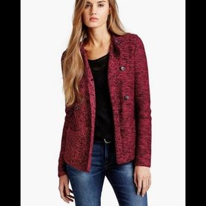 Lucky Brand marle double breasted cardigan sweater